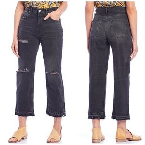 Free People Lita Crop Straight Leg Jeans